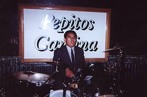 Charles playing a show at Pepitos.