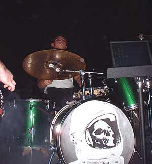 Charles playing drums.